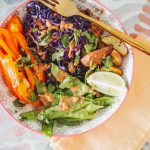 Indonesian Gado-Gado Bowl with Purple Rice (Vegan Recipe)
