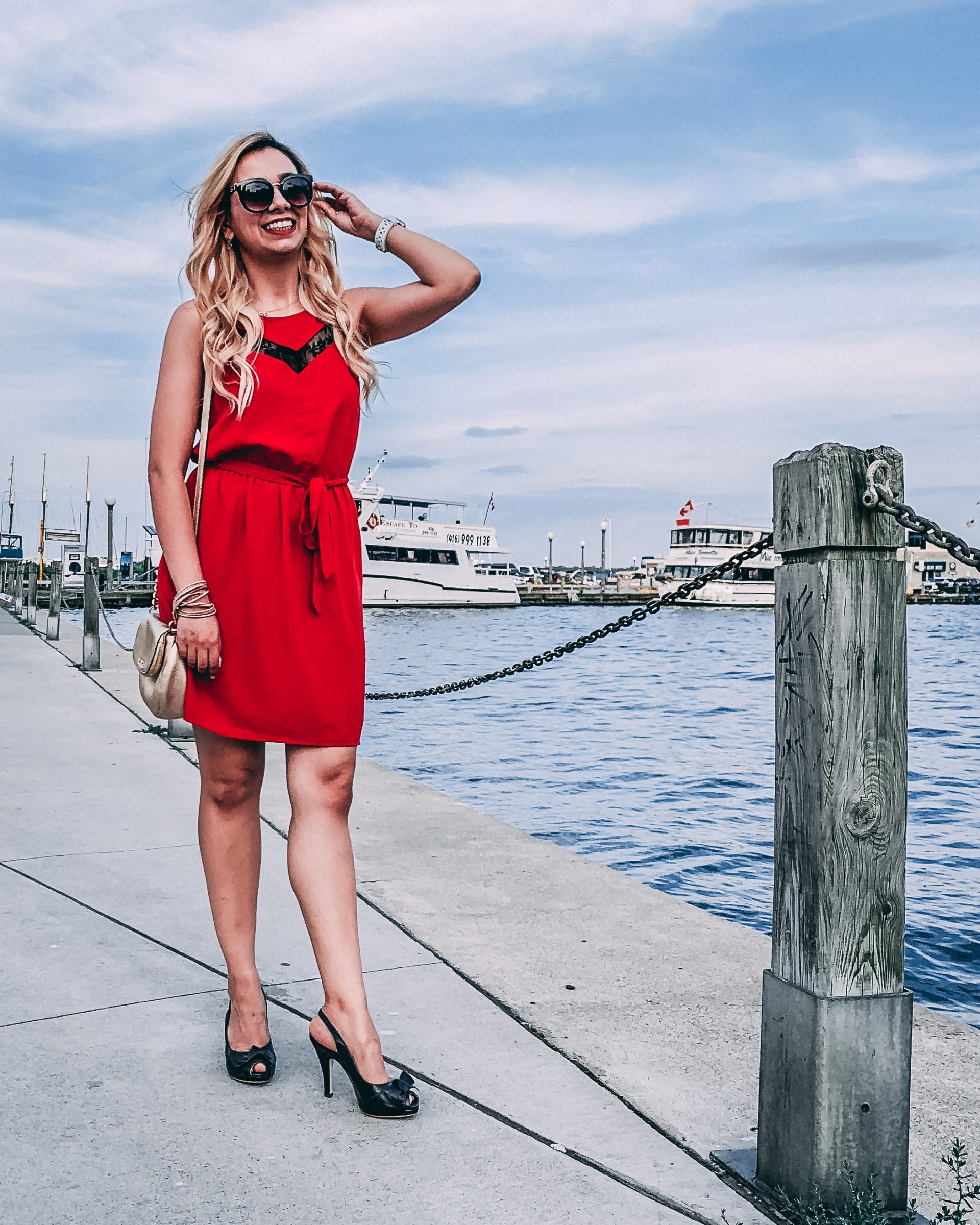 What I wore: Red Dress for a Summer Date Night