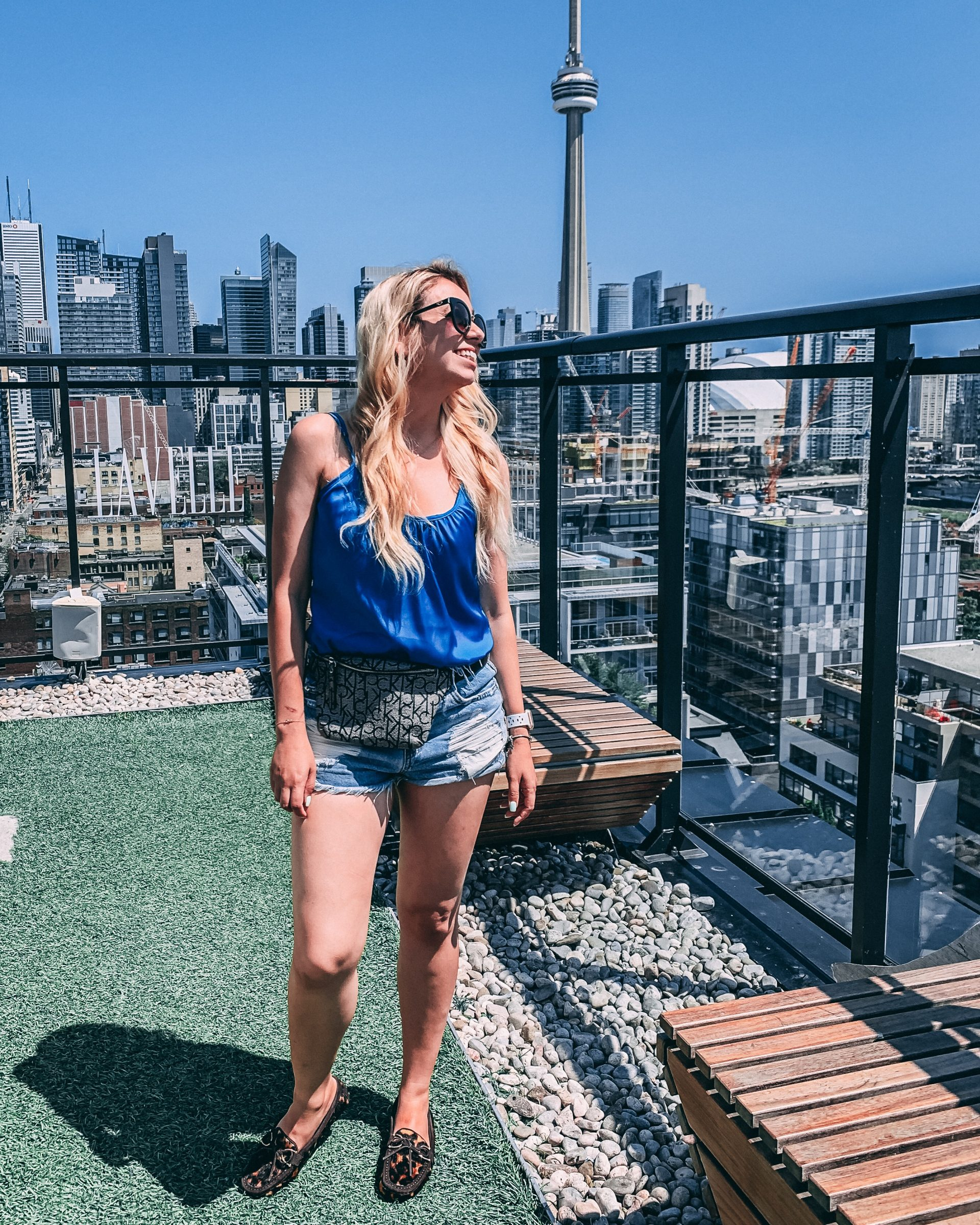 What I wore: Blue is the color of summer