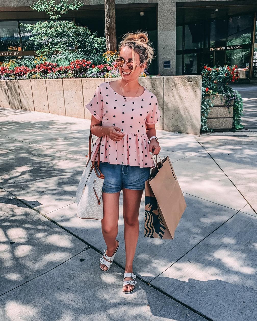 What I wore: Polka Dots