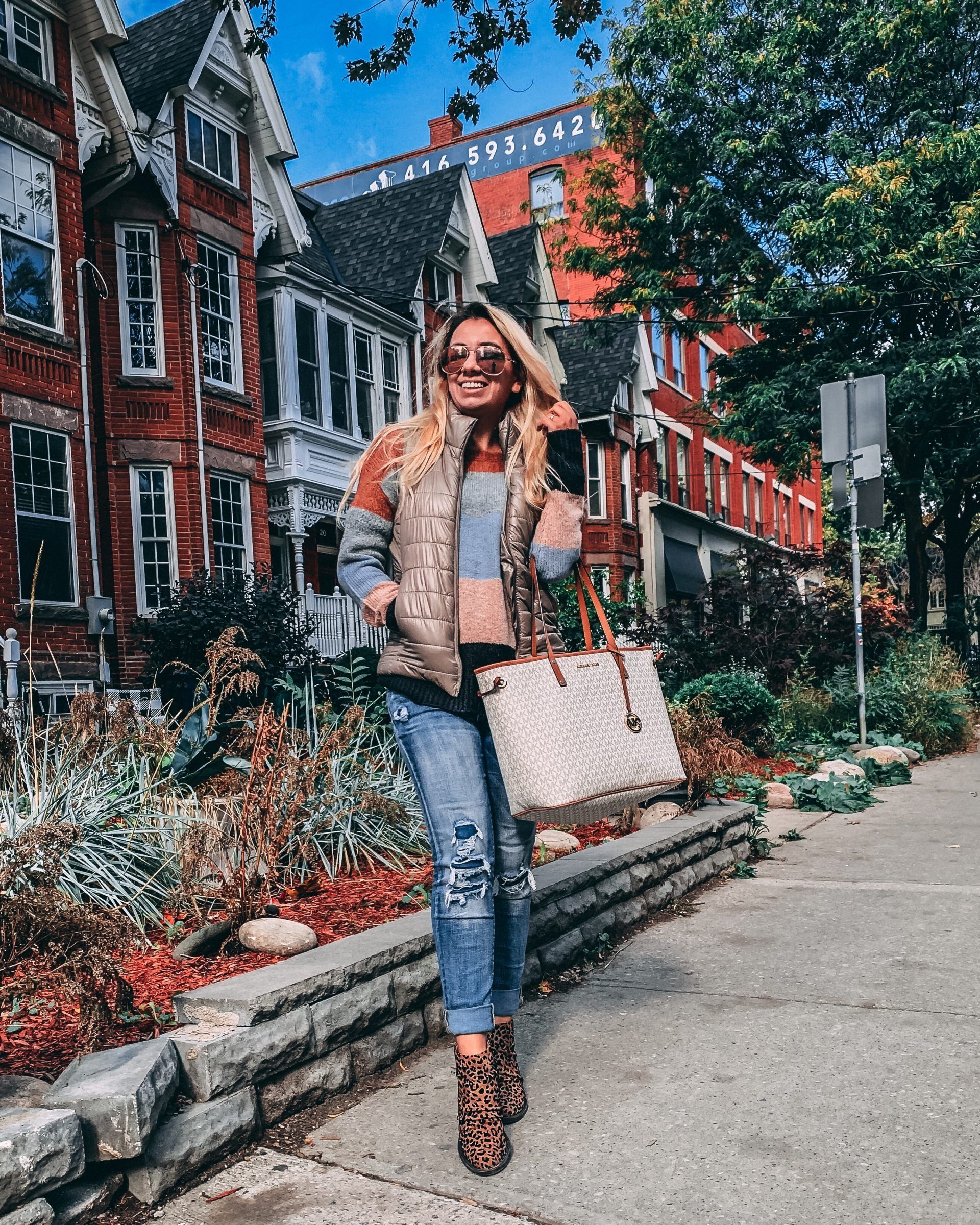 What I wore: a vest can change everything