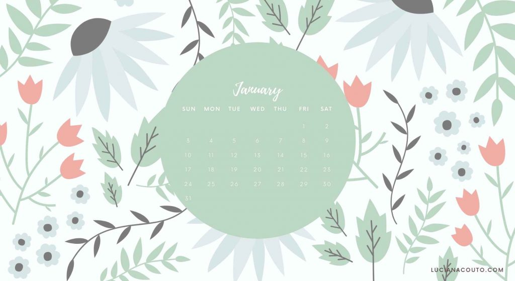 January Desktop Calendar to Donwload